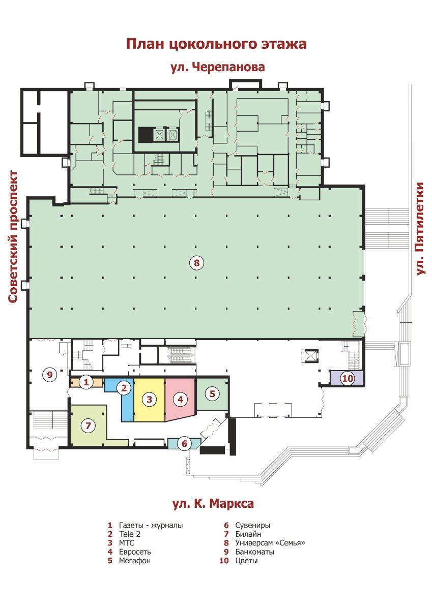 a39883876aa3 План Торгового Центра   Центральный Универсальный Магазин - г. Березники